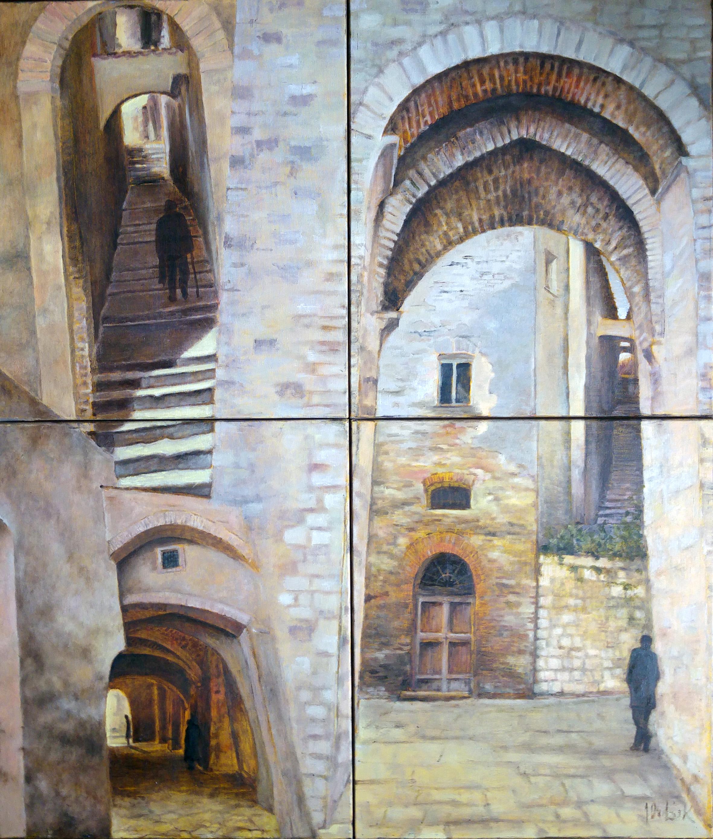 Meandry Ścian, olej, płótno, 120 x 140 cm,